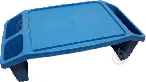 Столик пластиковый голубой 580x210x300мм - фото 1