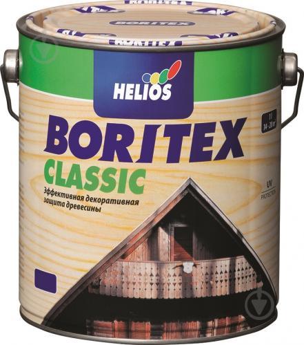 Лазурь Helios Boritex Classic 4 орех мат 0,75 л - фото 2