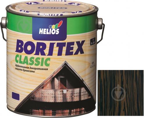 Лазурь Helios Boritex Classic 5 эбенове дерево мат 0,75 л - фото 1