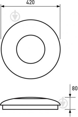 Світильник світлодіодний Eurolamp Smart Light Vivaldi музичний із пультом ДК 48 Вт білий 3000-6000 К - фото 4