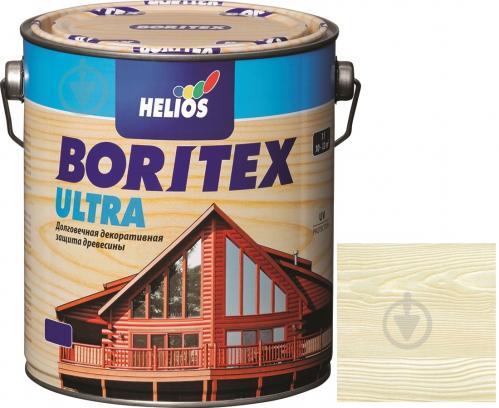 Лазурь Helios Boritex Ultra 13 белый шелковистый мат 0,75 л - фото 1