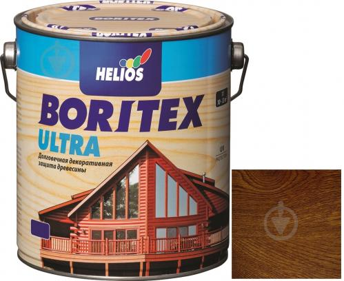 Лазурь Helios Boritex Ultra 4 орех шелковистый мат 0,75 л - фото 1