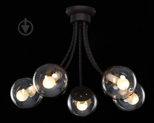 Світильник стельовий Accento lighting Oleander ALKK-GH96284-5 5x40 Вт E14 чорний - фото 3
