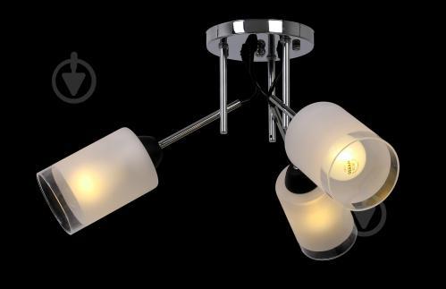 Світильник стельовий Accento lighting ALKK-GH35212-3 3x60 Вт E27 хром - фото 3