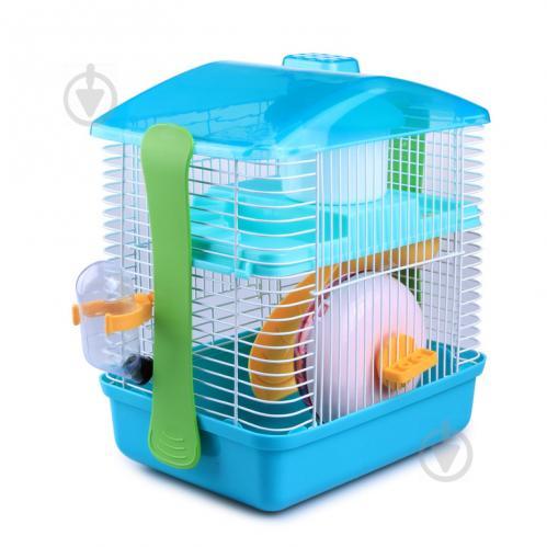 Клетка для грызунов AnimAll 28,5х19,5х27 см бирюзовая Р679 - фото 1