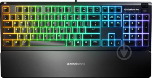 Клавіатура SteelSeries Apex 3 (SS64805) black - фото 1