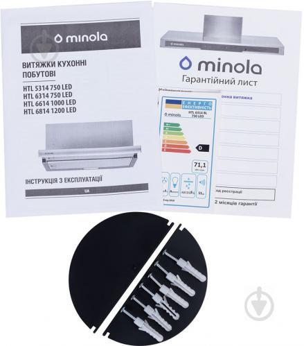 Витяжка Minola HTL 6314 BL 750 LED - фото 14