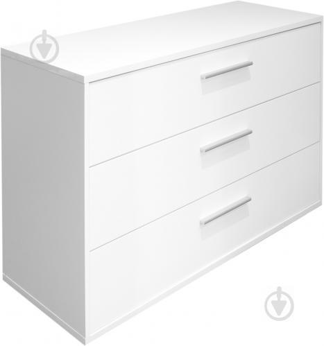 Комод Embawood Mirina 3 ящика белый лак/белый - фото 1