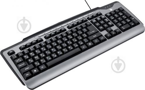 Клавіатура 2E Мультимедійна (2E-KM1010UB) Gray black - фото 1