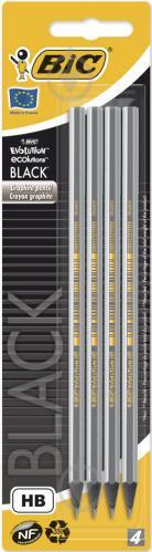 Набір олівців чорнографітних Evolution Black 4 шт. 896016 BIC - фото 1