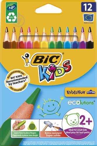Карандаши цветные Evolution Треугольные BIC - фото 1