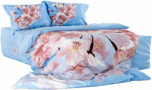 ᐉ Комплект постільної білизни Spring сімейний блакитний La Nuit ... 4a6fe18646af7