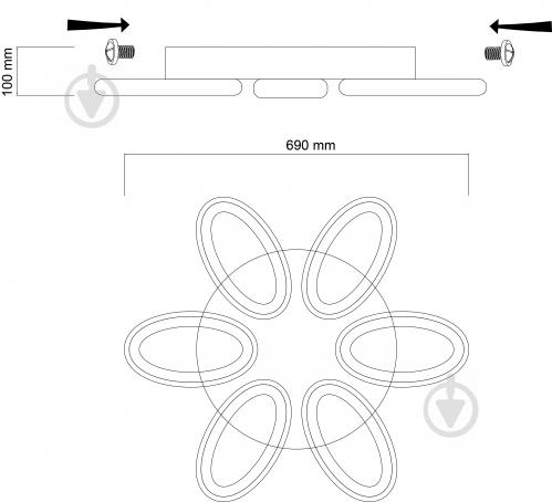 Люстра светодиодная Hopfen Aures PT с пультом ДУ 180 Вт белый - фото 2
