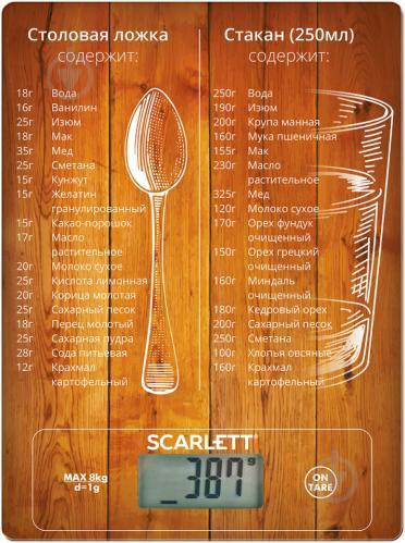 Весы кухонные Scarlett SC-KS57P19 - фото 1