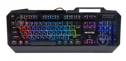 Клавіатура ігрова Maxxter (KBG-201-UL) KBG-201-UL black - фото 1