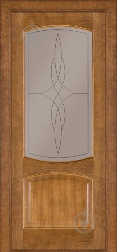 Дверне полотно Terminus №05 ЗС+КМ 700 мм дуб темний
