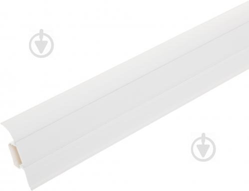 Плінтус ПВХ TIS білий 18х56х2500 мм