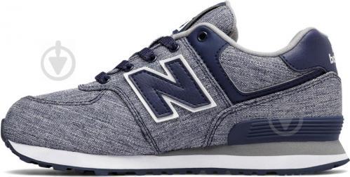 Кроссовки New Balance 574 KL574V7G р. 5.5 серый с синим