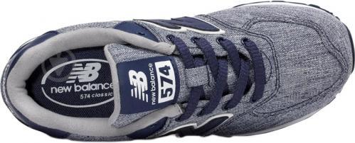 Кроссовки New Balance 574 KL574V7G р. 5.5 серый с синим - фото 3