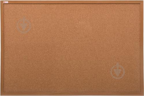 ᐉ доска пробковая Optima 60х90 см деревянная рамка купить в киеве