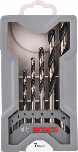 Набор сверл Bosch HSS PointTeQ Mini X-Line 49 мм 2-10 мм 7 шт. 2608577347 - фото 1