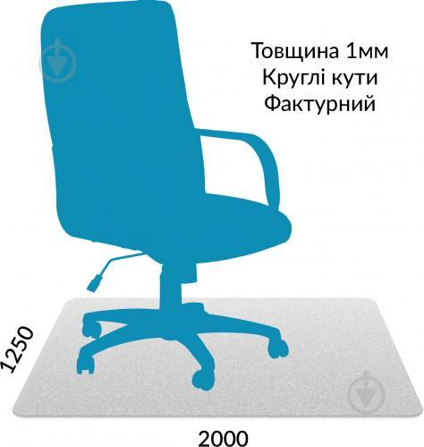 Захисний килим полікарбонатний 1,00 мм 1,25 м x 2,00 м закруглені краї - фото 1