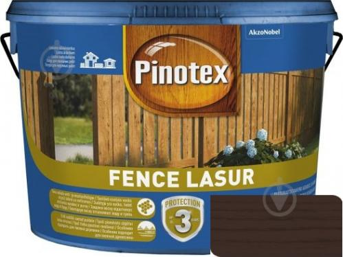 Деревозащитное средство Pinotex fence lazur полисандр мат 10 л - фото 1