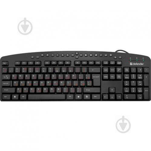 Клавіатура Defender Atlas HB-450 (45450) black - фото 1