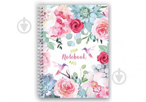 Блокнот Spring Mood: Pink Flowers А5 80 арк.E21952-04 Economix - фото 1