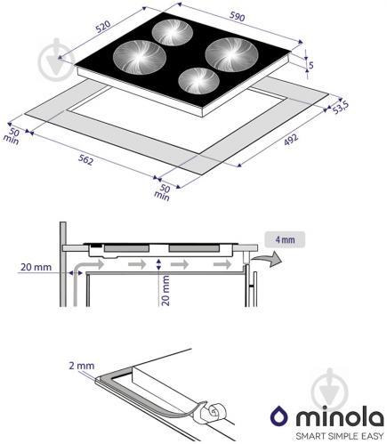 Варильна поверхня Minola MVH 6033 GBL - фото 9