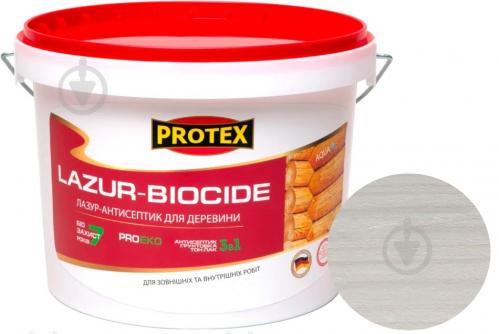 Лазурь-антисептик Protex 3 в 1 белый шелковистый мат 3 л - фото 1