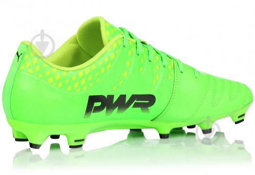 645a288fd4f3 Футбольные бутсы Puma evoPOWER Vigor 3 Lth FG 10396101 р. 10.5 зеленый -  фото 3