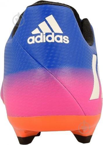 Футбольные бутсы Adidas MESSI 16.3 FG BA9021 р. 10 сине-розовый - фото 4