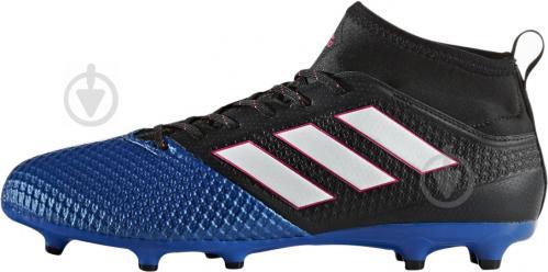 Футбольные бутсы Adidas ACE 17.3 PRIMEMESH FG BA8505 р. 10.5 черно-синий