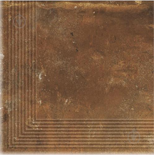 Клінкерна плитка Dallo Rosso stopnica narozna 30x30 Cerrad - фото 1