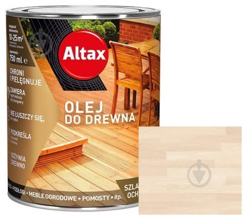 Масло для древесины Altax белый полумат 0,75 л - фото 1