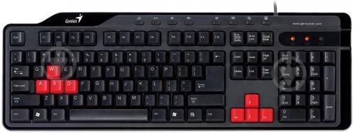 Клавіатура Genius KB-G235 USB UKR (31310460110) USB black/orange - фото 1