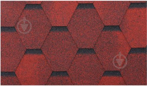 Бітумна черепиця  RoofOK Сота червона 3 кв.м - фото 2