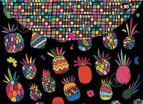 Папка-конверт Black pineapple А4+ 491660 YES - фото 1
