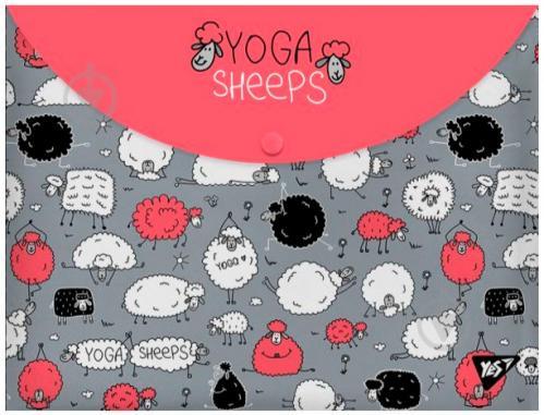 Папка-конверт Yoga sheeps А4+ 491638 YES - фото 1