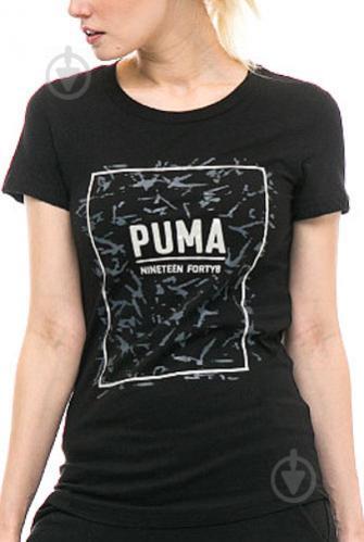 Футболка Puma FUSION Graphic Tee р. M черный 85010701 - фото 4