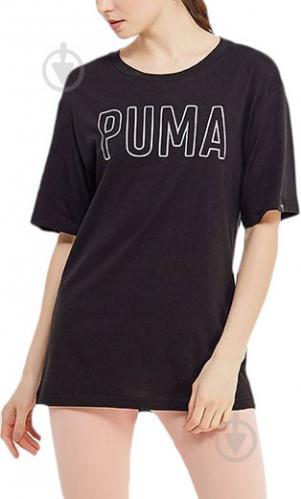 Футболка Puma FUSION Elongated Tee р. XS черный 85010801