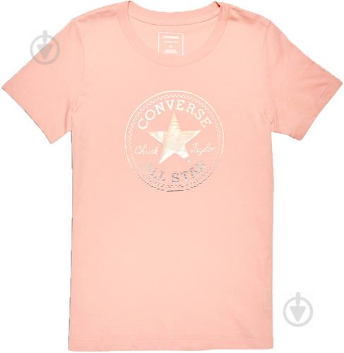 Футболка Converse Clear Foil Chuck Patch Crew Tee р. XS розовый 10005792-689