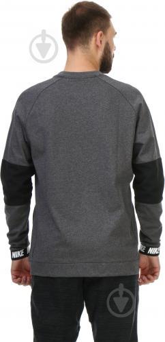 Спортивна кофта Nike Sportswear Advance 15 Crew FLC AW1718 р. L сірий із чорним 861744-071 - фото 2