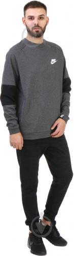 Спортивна кофта Nike Sportswear Advance 15 Crew FLC AW1718 р. L сірий із чорним 861744-071 - фото 3