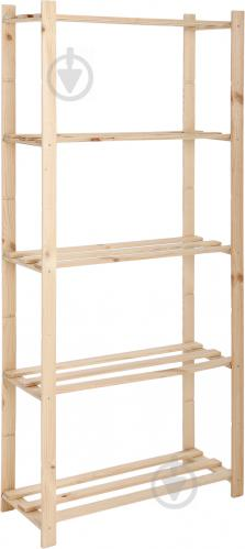 Стеллаж DDK Furniture Basic 5 полок 1700x800x300 мм дуб (Basic5) - фото 1