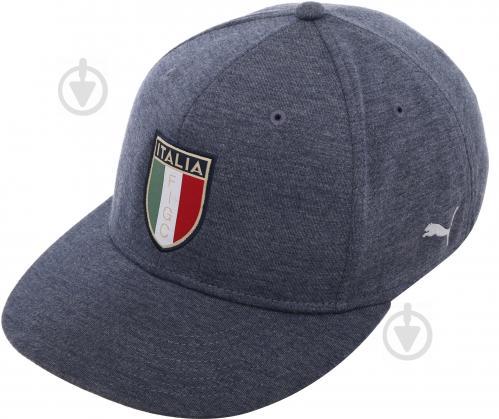 Бейсболка Puma FIGC Cap 2121201 OS сине-серый