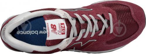 Кроссовки New Balance ML574EGB р.9,5 бордовый - фото 3