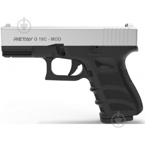 Оружие сигнально-шумовое Retay G 19C, 9мм. к:chrome - фото 1