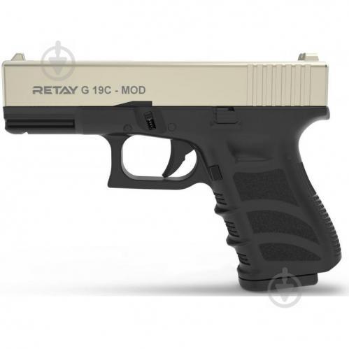 Оружие сигнально-шумовое Retay G 19C, 9мм. к:satin - фото 1